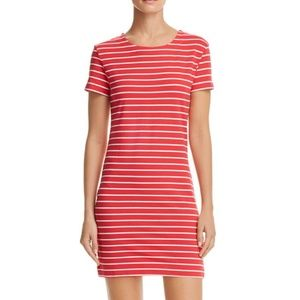 French Connection red striped sheath dress